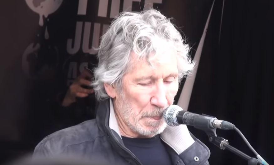 Roger Waters reading Amir Aziz's 'Sab Yaad Rakha' Jayega at London.