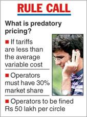 Trai fixes fine for predatory pricing
