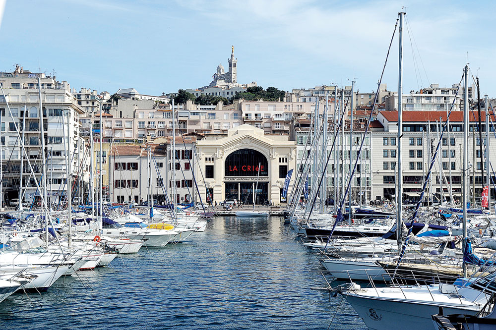 The picturesque Old Port in Marseille. The city has been renovating old docks and heritage buildings in the recent past