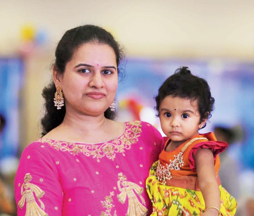 Koneru Humpy with daughter Ahana