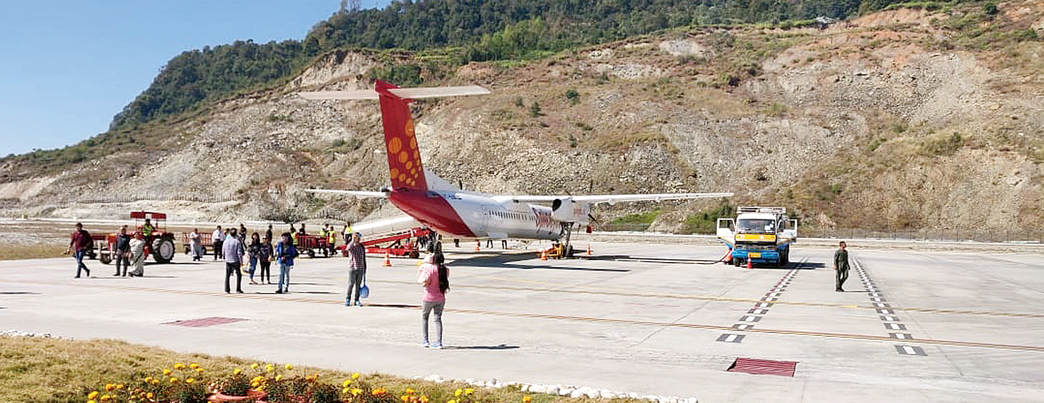 Pakyong airport, from where flights were diverted to Bagdogra on most days in December for lack of requisite navigation equipment for low-visibility situations