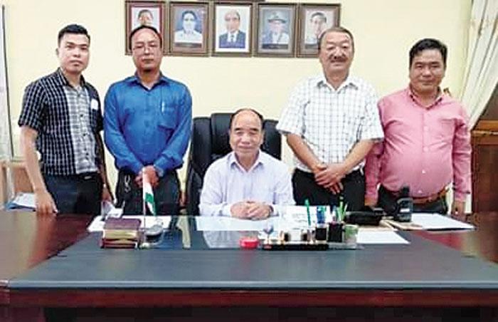 Leaders of the committee meet Zoramthanga