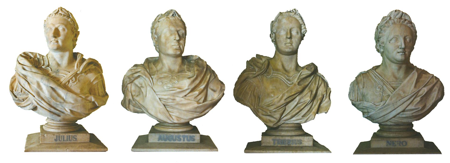 Busts of theTwelve Caesars at the Raj Bhavan, Calcutta.