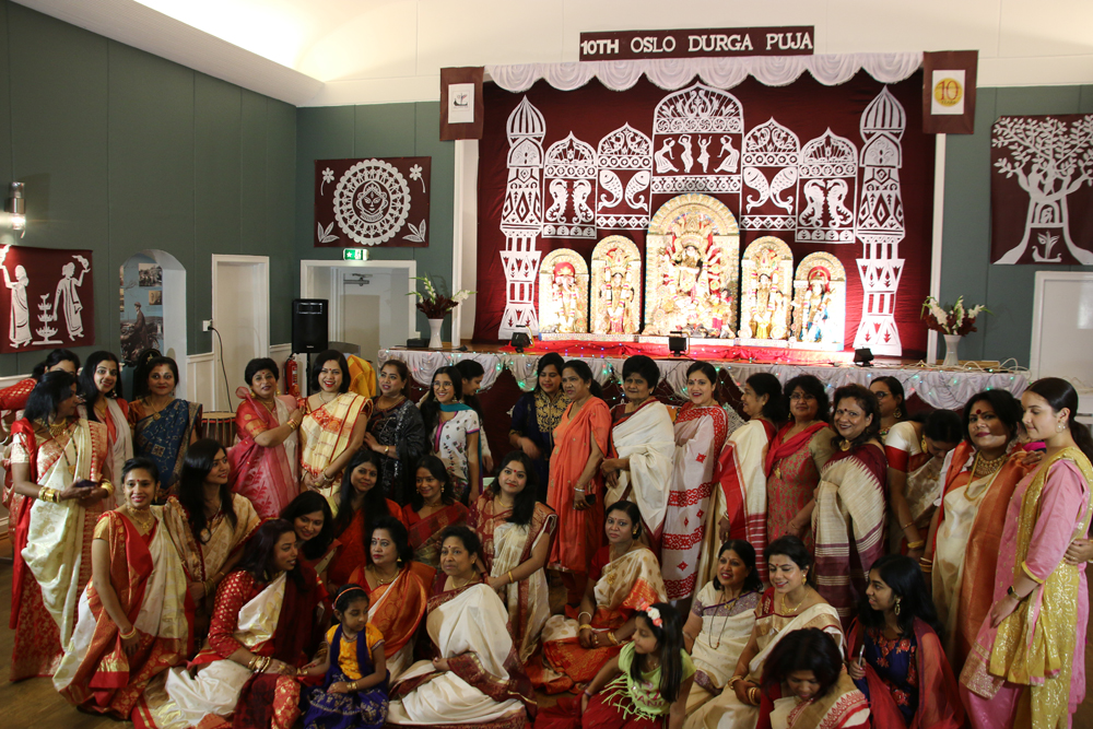 Devotees at last year's Durga Puja in Oslo