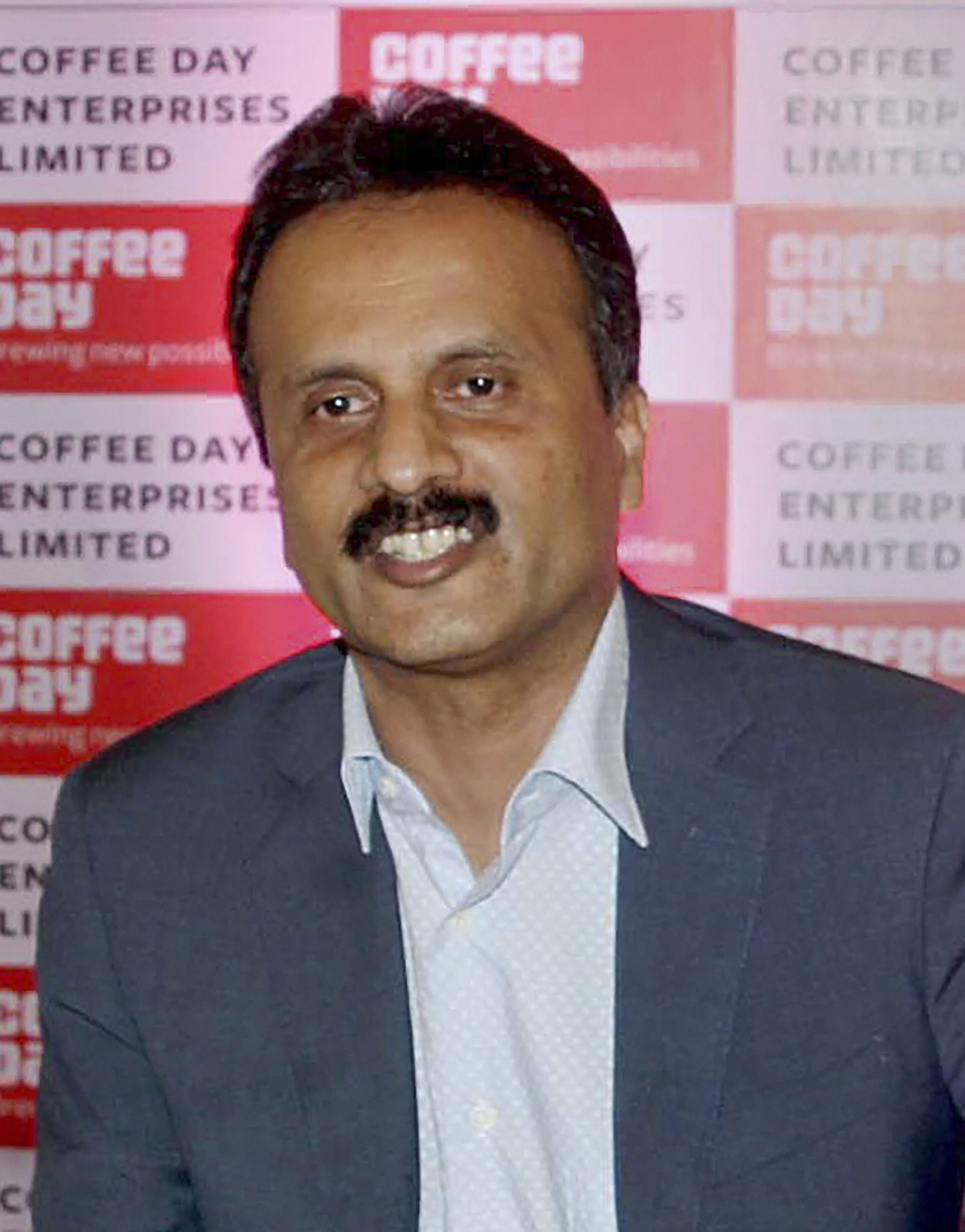In this file photo dated October 13, 2015, Cafe Coffee Day founder V G Siddhartha addresses a news conference in Bengaluru.