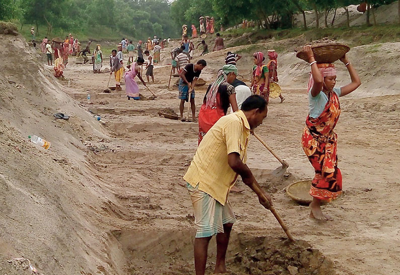 MGNREGA is the most important poverty alleviation scheme currently in action as it covers every district of the country