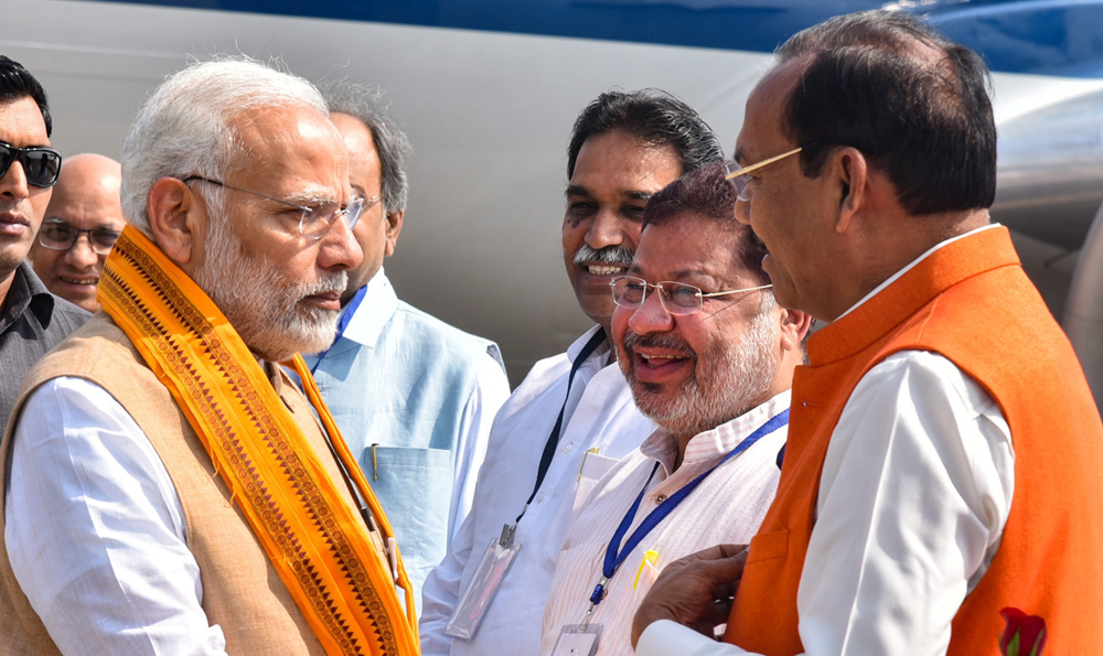 Modi links Congress and AC 'urban Maoists'