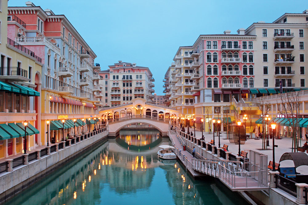 One part of The Pearl-Qatar is a Venice lookalike