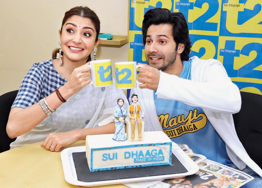 Cheers! Anushka and Varun raise a toast to t2