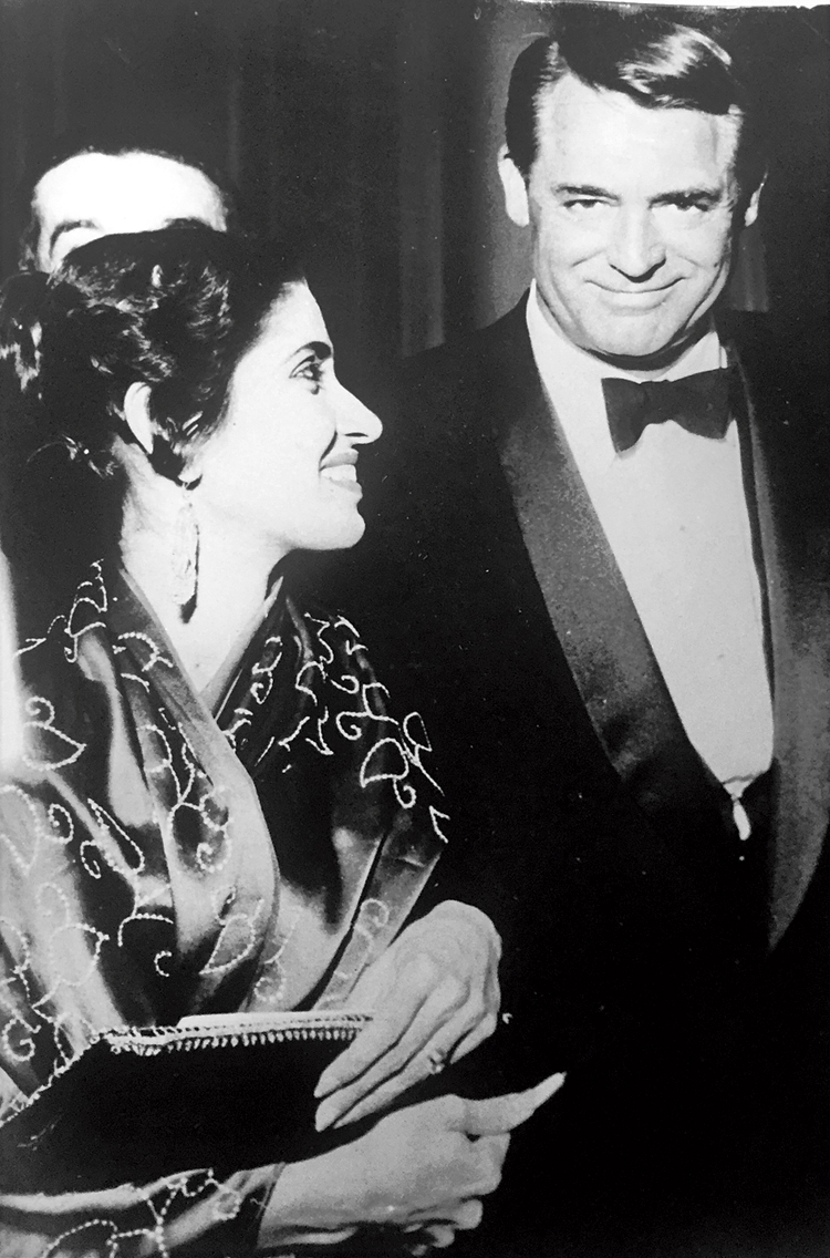 Star & Style editor Gulshan Ewing with actor Cary Grant