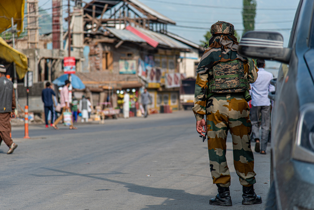 Security personnel in Srinagar