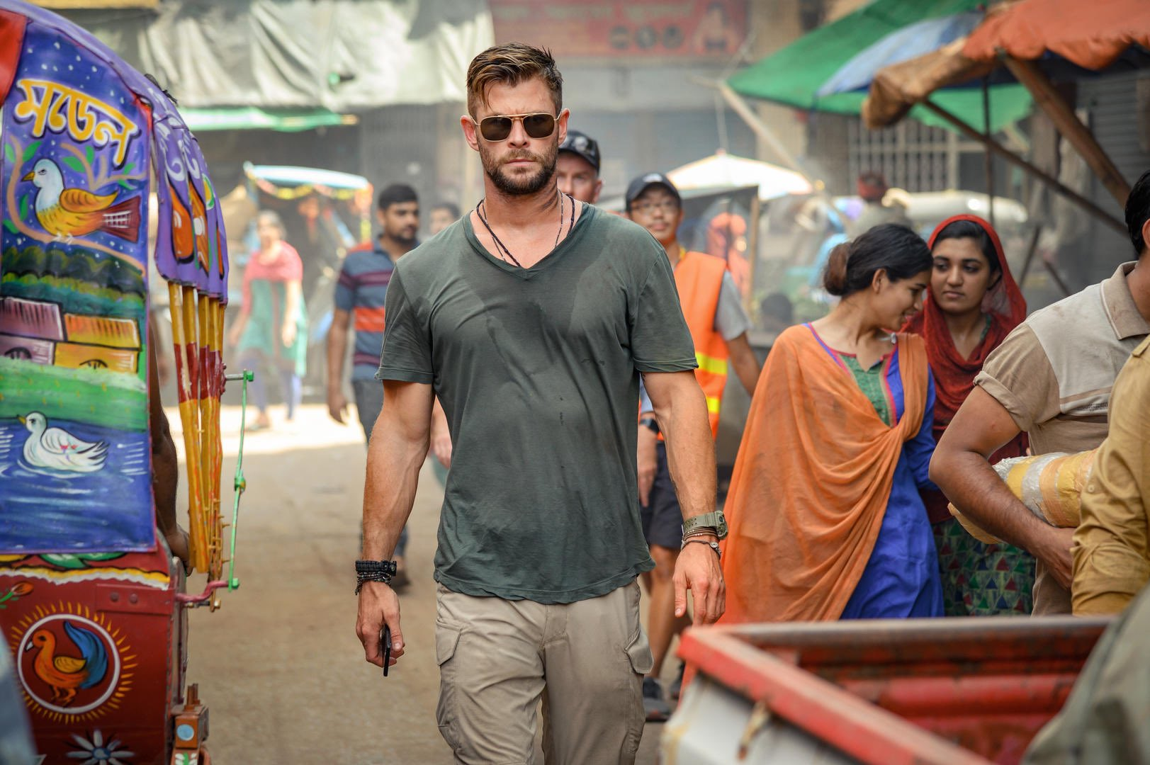 Chris Hemsworth in a still from the film 'Extraction'
