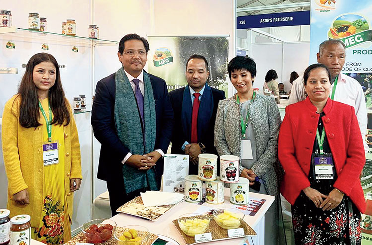 Meghalaya chief minister Conrad K. Sangma at the food show in Shillong  on Wednesday
