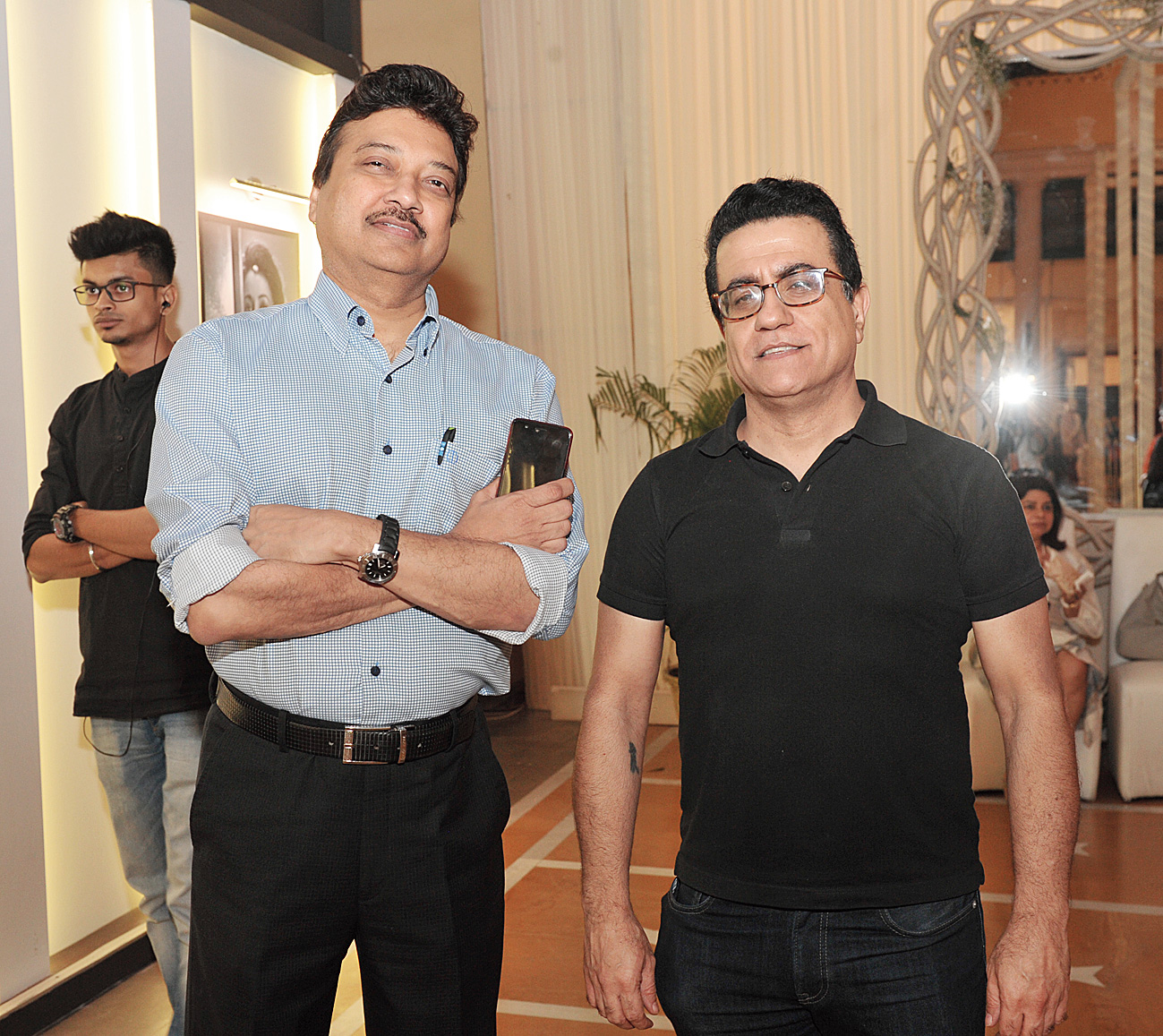 """""""The city needed an event like this to showcase luxury in weddings, which Wedding Diaries has done beautifully. This was very tastefully done with its cream and ivory decor,"""" said couture jeweller Raj Mahtani (right), seen here with Sanjay Sethia."""