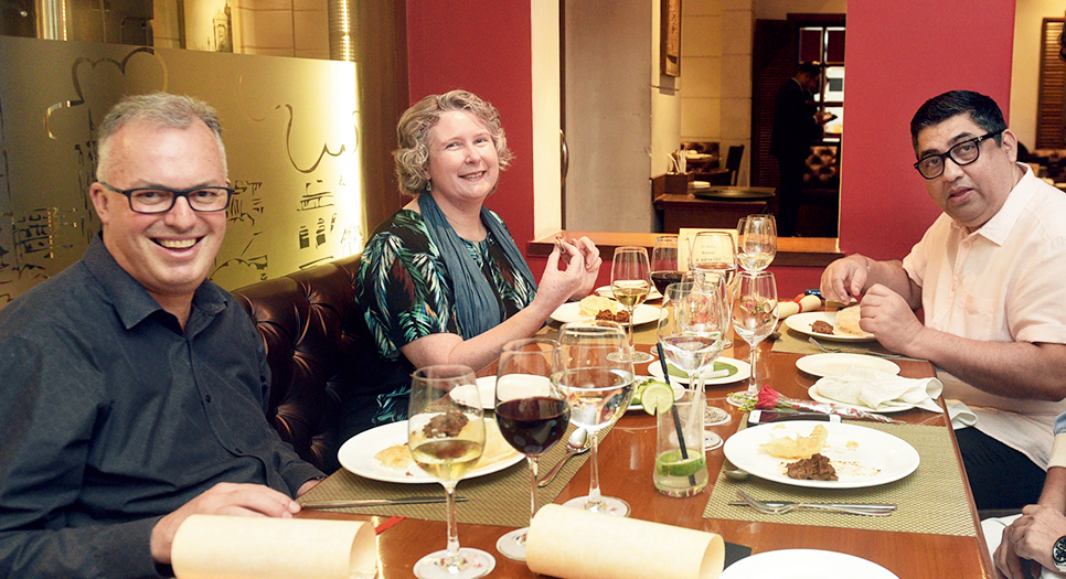 Keeping true to his intentions of tasting more of Bengali cuisine, Andrew Ford dropped by Oh! Calcutta with his wife Christine on May 15, with Speciality Restaurants group chief Anjan Chatterjee keeping them company. From Enchorer Cutlet and Bhapa Aloo to Luchi and Kasha Mangsho and Daaber Sandesh, the Bengali speciality restaurant laid out their finest for the new Australian consul general.
