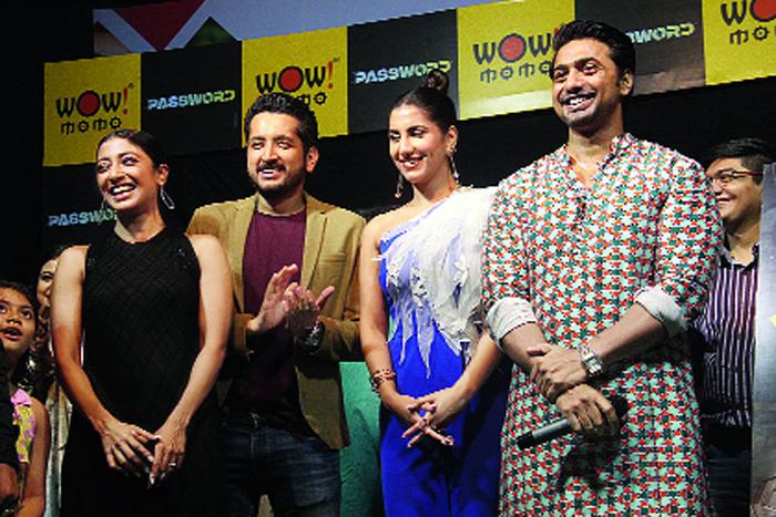 (L-R) Paoli Dam, Parambrata Chattopadhyay, Rukmini Maitra and Dev at the Password trailer launch