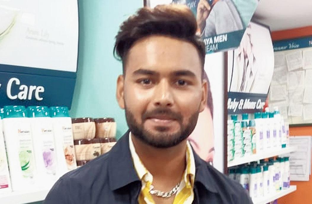 Rishabh Pant in Calcutta on Wednesday