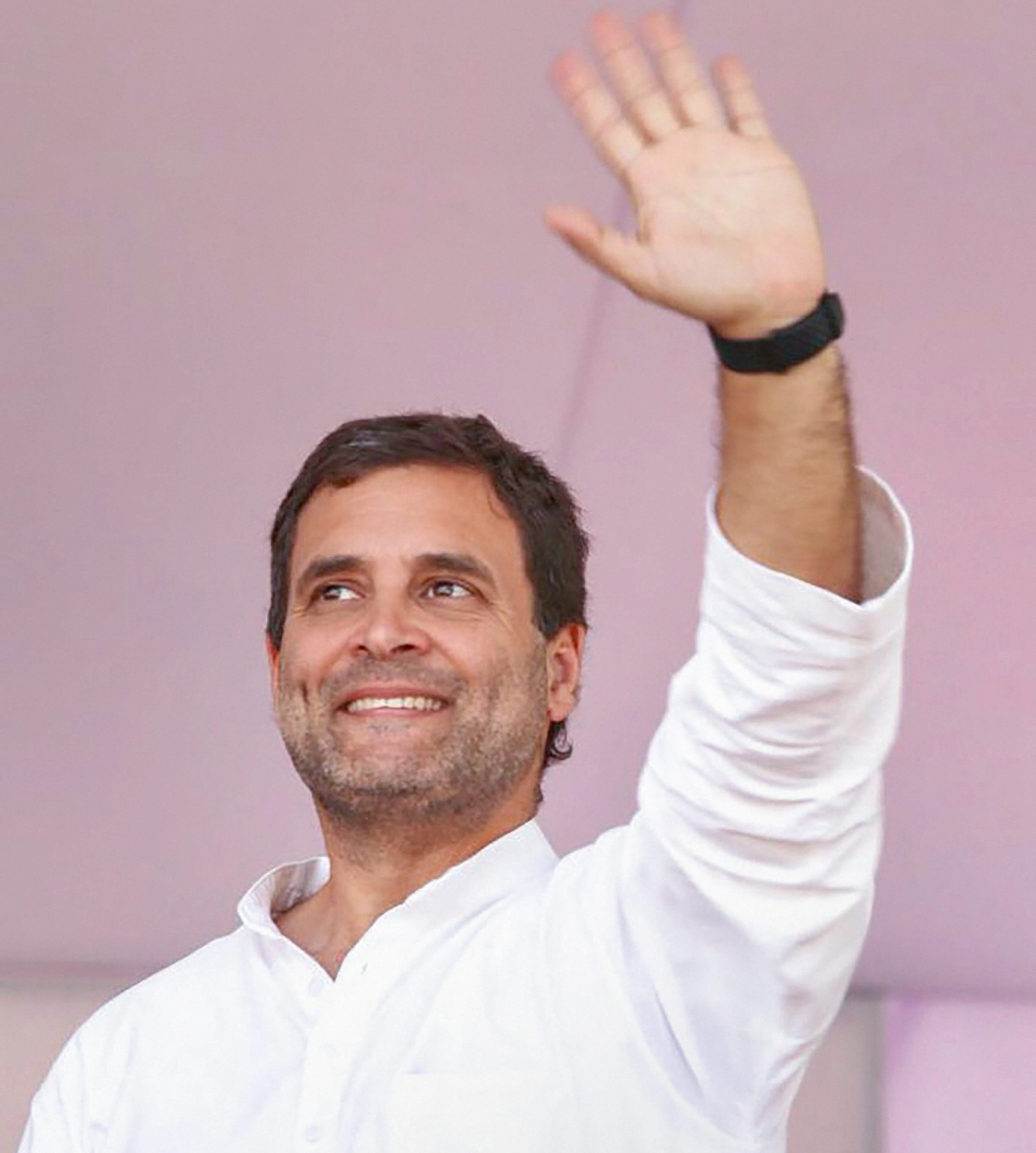Congress President Rahul Gandhi addresses Parivartan Rally, in Dehradun on Saturday, March 16, 2019.