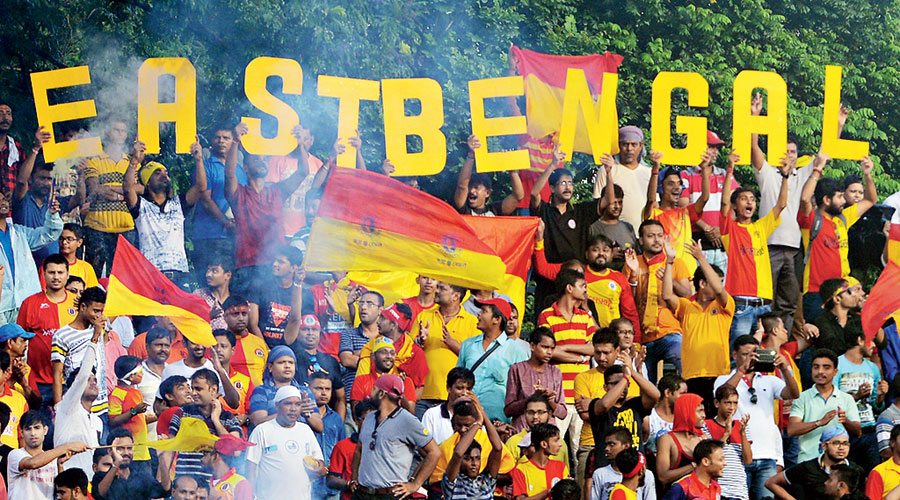 Those were the days... East Bengal fans celebrate