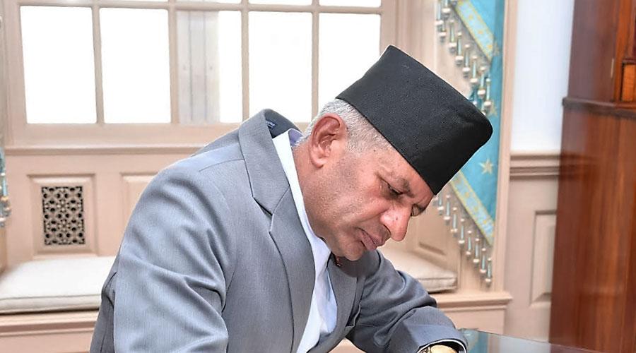 Nepal foreign minister Pradeep Gyawali
