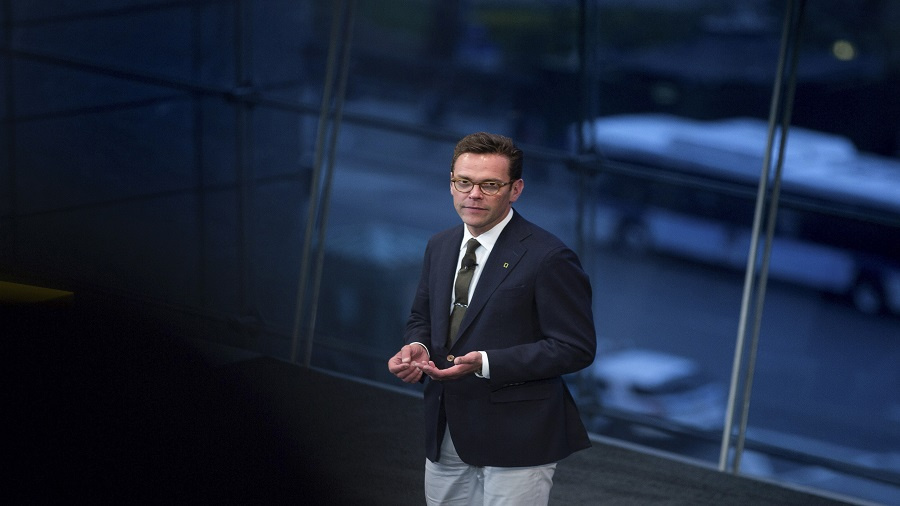 James Murdoch, the chief executive of 21st Century Fox and Rupert Murdoch's son, in New York, April 19, 2017. Murdoch resigned on Friday from the board of News Corp, stepping aside from his final formal role within the media empire of his father, Rupert Murdoch