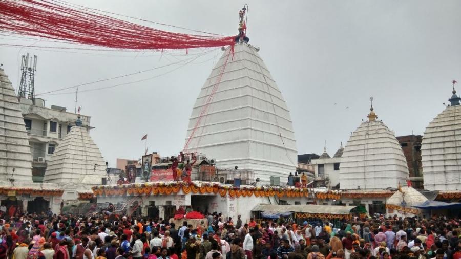 Baba Baidyanath temple in Deoghar during Shravan Mela a few years ago.