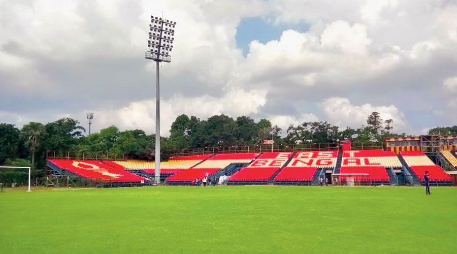 A view of the members' stands