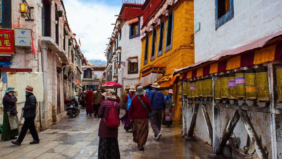Barker Street in Lhasa, Tibet, China.