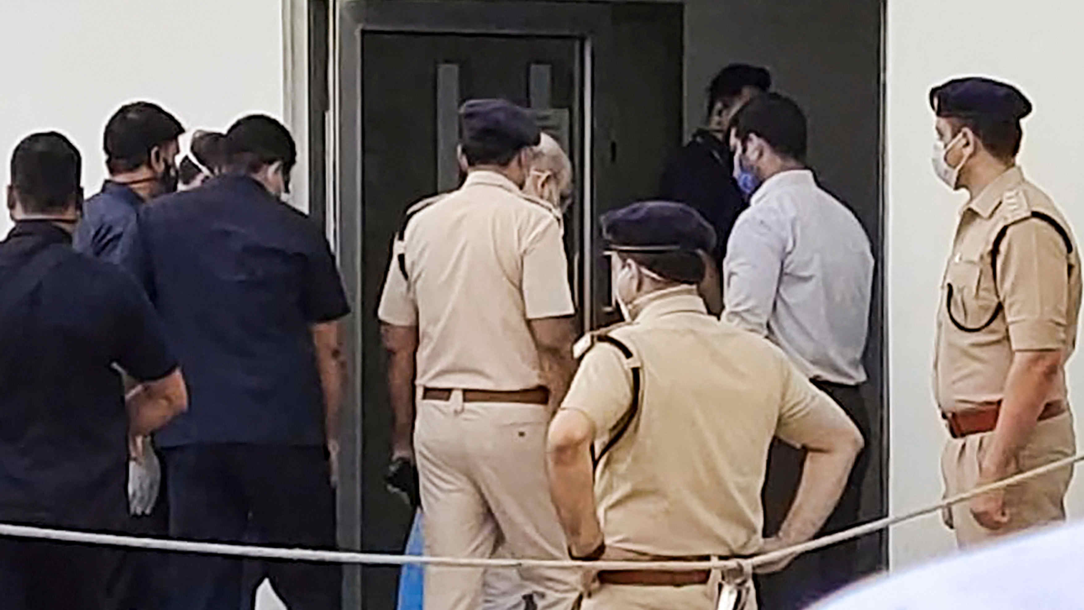 Union Home Minister Amit Shah enters Medanta Hospital to be admitted after testing positive for Covid-19, in Gurugram, Sunday, Aug. 2, 2020.