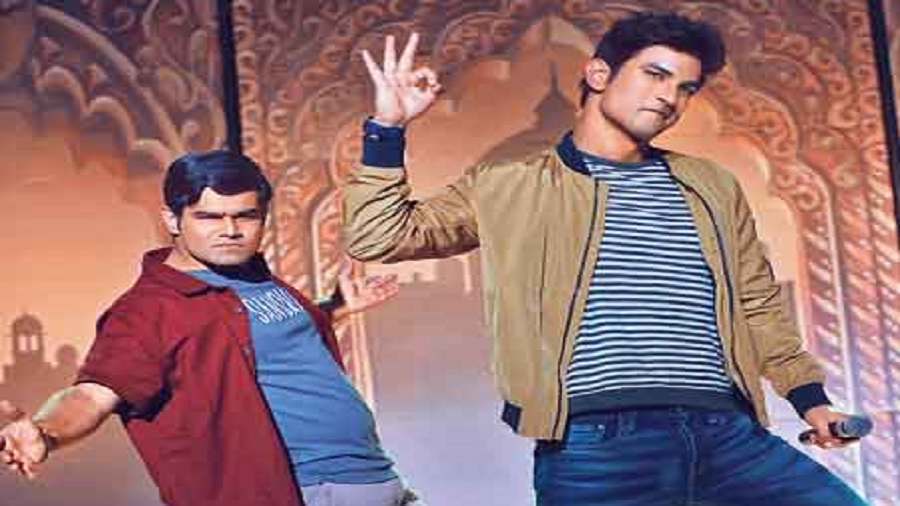 Sahil Vaid with Sushant Singh Rajput in Dil Bechara, streaming on Disney+Hotstar