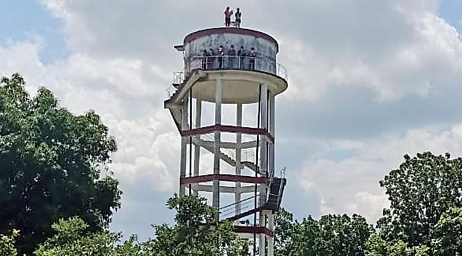 The water tank at Landimal village in Sambalpur district of Odisha
