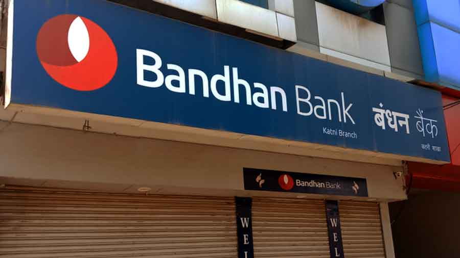 Shares of Bandhan Bank tanked 10.60 per cent to Rs 308.65 on the BSE on Monday