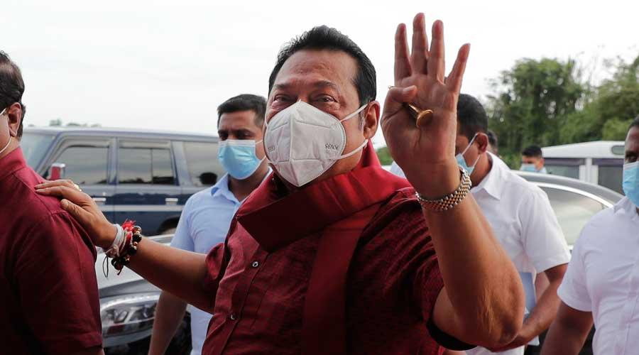 Sri Lankan Prime Minister Mahinda Rajapaksa in Colombo.