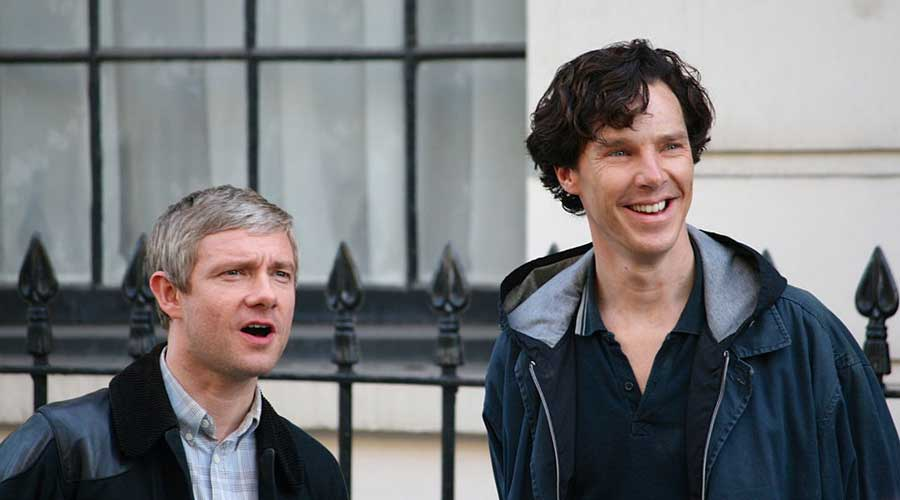 From the sets of the Sherlock TV series