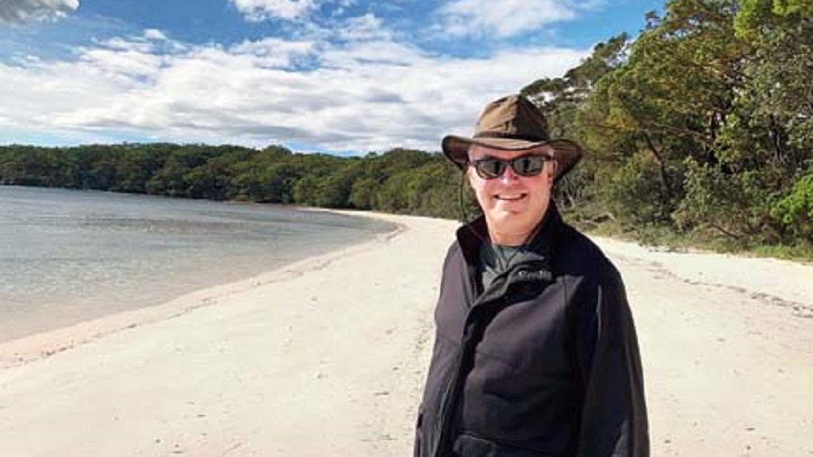 Andrew Ford holidaying at Jervis Bay back home