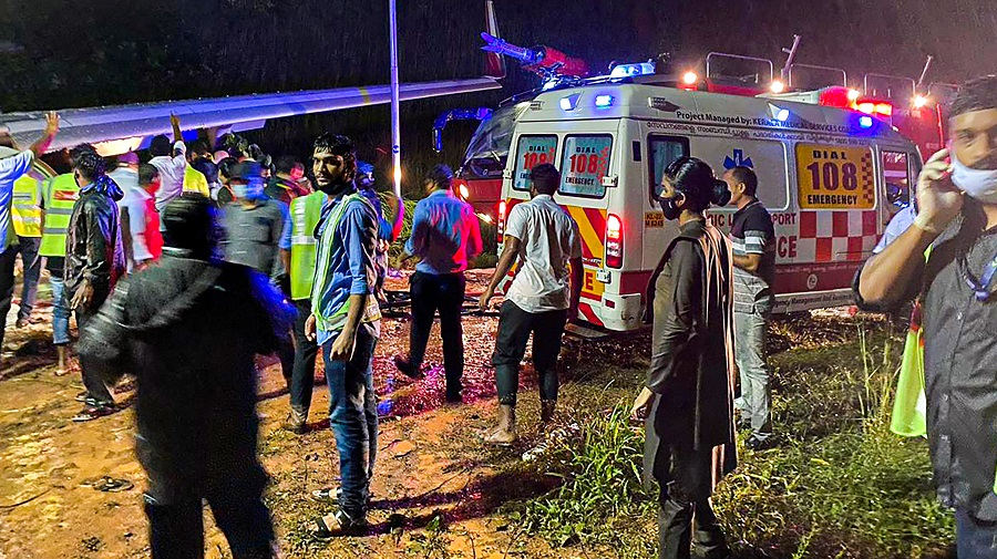Rescue operation underway in Kozhikode on Friday.