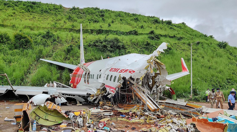 The mangled remains of the Air India flight