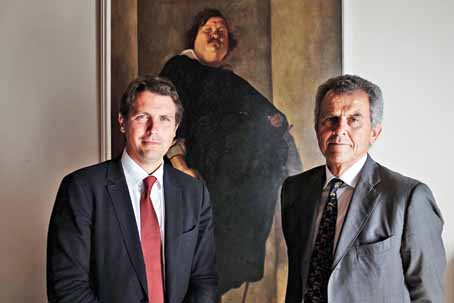 Salvatore Ferragamo (the grandson of the iconic Italian footwear designer) and his father Ferruccio