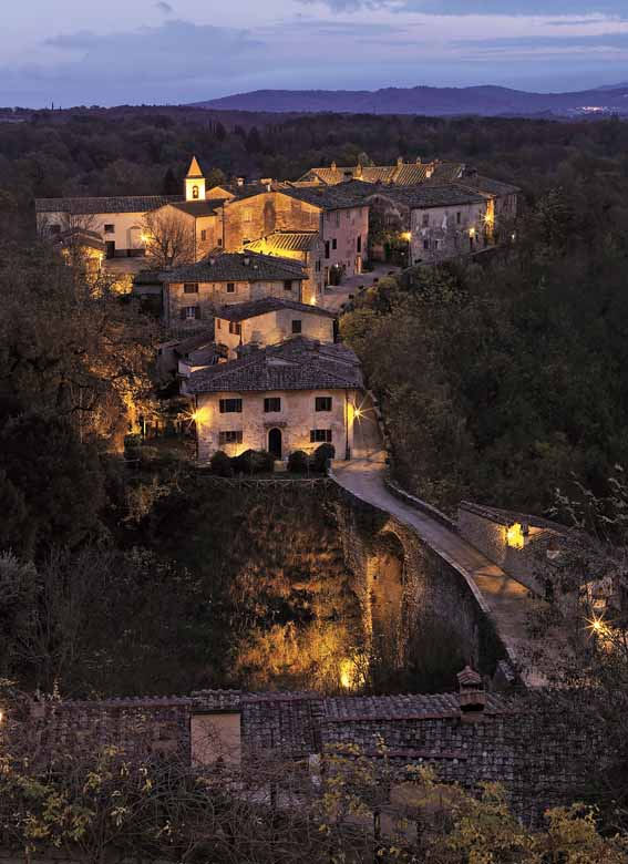 The village by night