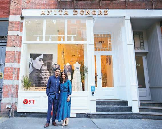 Dongre is the only Indian coutourier to have a permanent store in New York