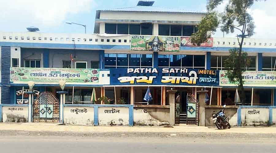 A motel turned into the safe home for  the police in Mohammedbazar, Birbhum