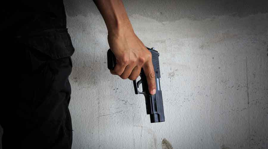 Police said four attackers fired four bullets on Sanjay Khokhar at Chhaprauli while he was walking in his agricultural field, and fled.