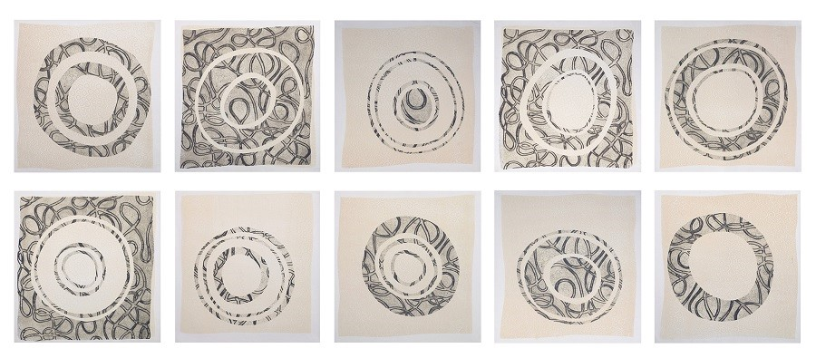 Ina Kaur: Perception: etching, relief and stencil (set of 10 pcs): 2019