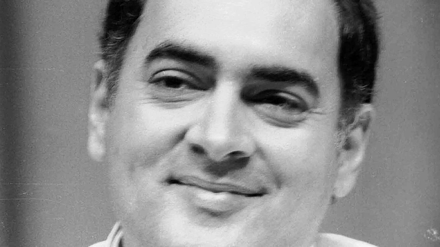 Rajiv Gandhi in 1985 when he was Prime Minister.