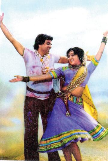 Dharmendra with Hema Malini, who played Basanti