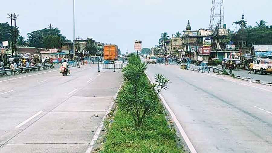 A stretch of the East West Corridor at Barobisha in Alipurduar district