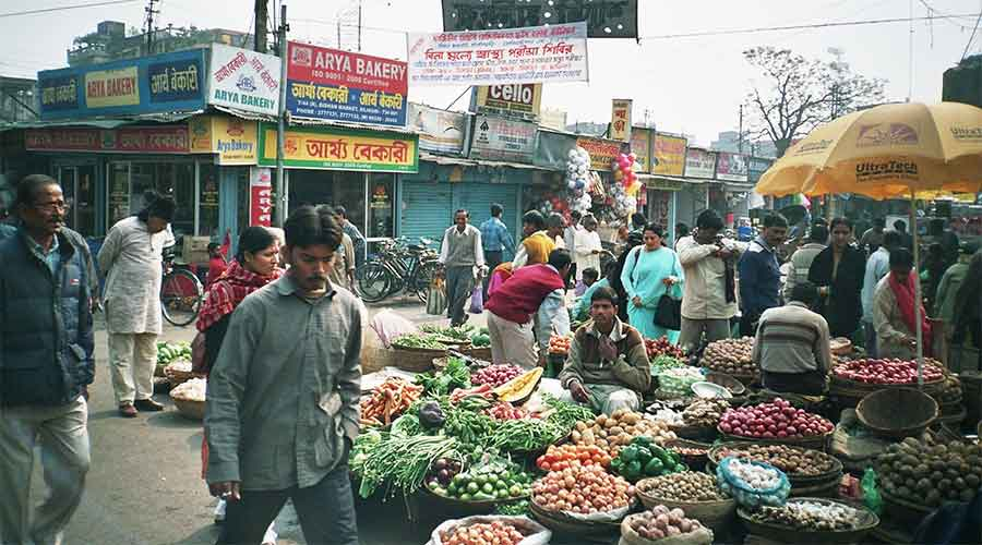 Bidhan Market is the largest retail hub in the city with over 3,800 shops and several makeshift stalls.