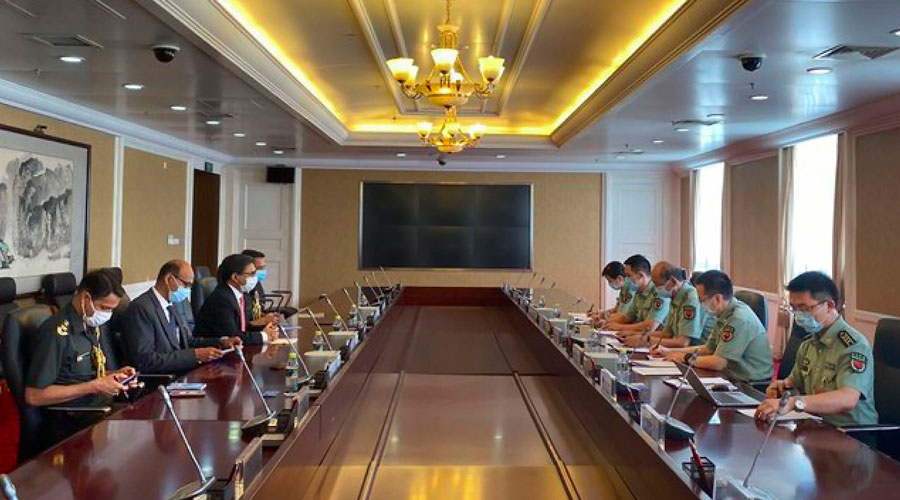 Vikram Misri on Friday met Major General Ci Guowei, director of the office of international military cooperation of China's Central Military Commission, and briefed him on India's stance on the situation on the borders in eastern Ladakh.
