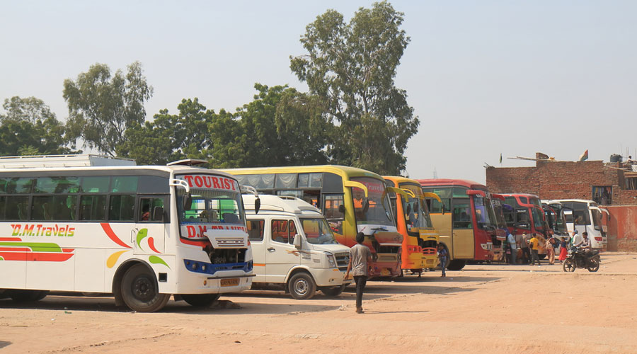 The bus was travelling from Gurgaon in Haryana to Panna in Madhya Pradesh with 34 passengers when it was hijacked on the national highway near Agra city on Wednesday morning.