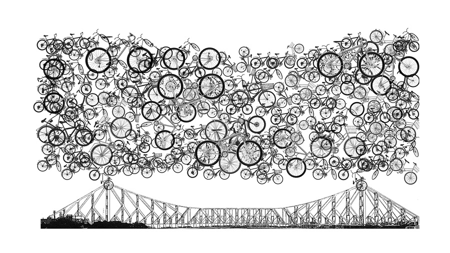 """""""Have you seen photographs of the Howrah Bridge during lockdown,"""" asks Gupta. """"Full of bicycles, it was a wonderful sight."""" The number of bicycles in the city's streets, estimated to have been over three lakh before the lockdown, has gone up several times"""